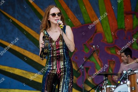 Stock Photo of Nora Patterson of Royal Teeth performs at the New Orleans Jazz and Heritage Festival, in New Orleans