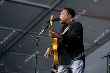 Stock Image of George Benson performs at the New Orleans Jazz and Heritage Festival, in New Orleans