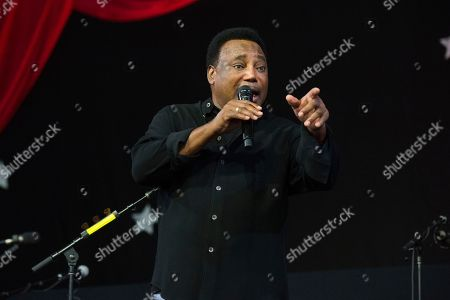 Stock Picture of George Benson performs at the New Orleans Jazz and Heritage Festival, in New Orleans