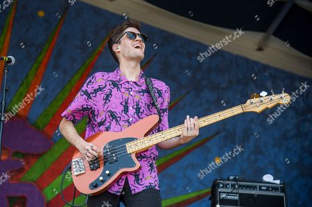 Joshua Wells of Royal Teeth performs at the New Orleans Jazz and Heritage Festival, in New Orleans