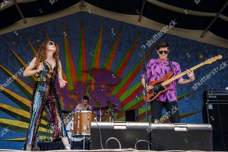 Nora Patterson, Joshua Wells. Nora Patterson, left, and Joshua Wells of Royal Teeth perform at the New Orleans Jazz and Heritage Festival, in New Orleans