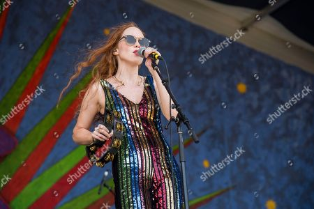 Nora Patterson of Royal Teeth performs at the New Orleans Jazz and Heritage Festival, in New Orleans