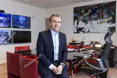 Stock Photo of Alain Weill, Chairman and Chief Executive Officer of SFR Group, Chief Operating Officer of Altice Media and Chief Executive Officer of SFR Media, in his office