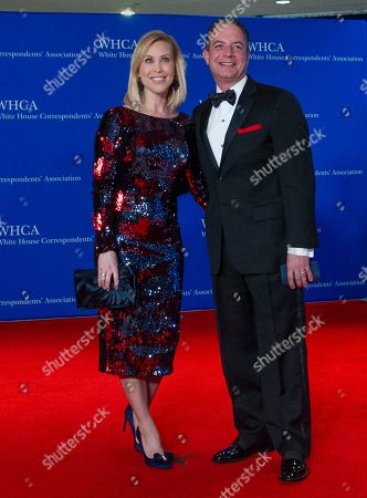 Former White House Chief of Staff Reince Priebus and his wife, Sally Sherrow,