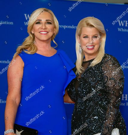 Jamie Colby, left, and Rita Cosby, right,