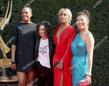 Aisha Tyler, Sara Gilbert, Eve, Julie Chen. Aisha Tyler, from left, Sara Gilbert, Eve, and Julie Chen arrive