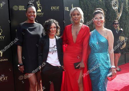 Aisha Tyler, Sara Gilbert, Eve, Julie Chen. Aisha Tyler, from left, Sara Gilbert, Eve and Julie Chen arrive