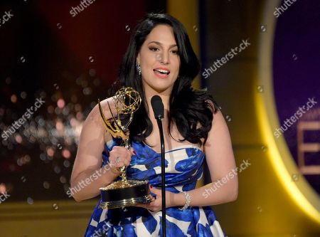 """Alejandra Oraa accepts the award for outstanding entertainment program in Spanish for """"Destinos"""" at the 45th annual Daytime Emmy Awards at the Pasadena Civic Center, in Pasadena, Calif"""