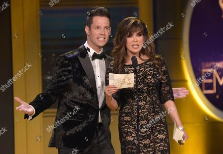 Marie Osmond, David Osmond. Marie Osmond, right, and David Osmond present the award for outstanding entertainment talk show at the 45th annual Daytime Emmy Awards at the Pasadena Civic Center, in Pasadena, Calif