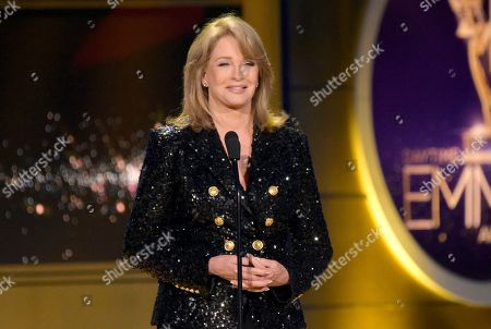 Deidre Hall presents the lifetime achievement award at the 45th annual Daytime Emmy Awards at the Pasadena Civic Center, in Pasadena, Calif
