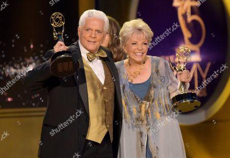 Bill Hayes, Susan Seaforth Hayes. Bill Hayes, left, and Susan Seaforth Hayes accept the lifetime achievement award at the 45th annual Daytime Emmy Awards at the Pasadena Civic Center, in Pasadena, Calif