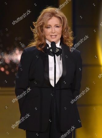 Suzanne Rogers presents the award for outstanding supporting actress in a drama series at the 45th annual Daytime Emmy Awards at the Pasadena Civic Center, in Pasadena, Calif