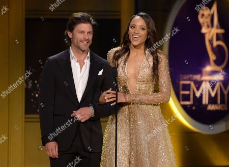 Greg Vaughan, Sal Stowers. Greg Vaughan, left, and Sal Stowers present the award for outstanding directing team for drama series at the 45th annual Daytime Emmy Awards at the Pasadena Civic Center, in Pasadena, Calif