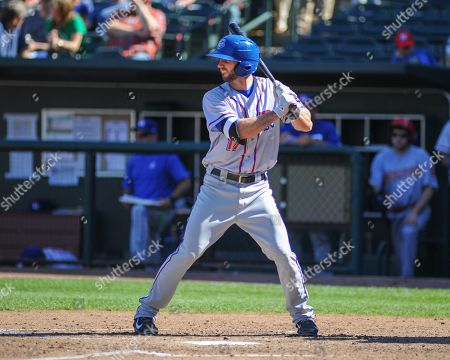 Stock Photo of , 2018; Memphis, TN, USA; Round Rock Express, Nick Noonan (17), at bat during the Pacific Coast League Triple-A baseball game at Auto Zone Park. Memphis defeated Round Rock, 6-1