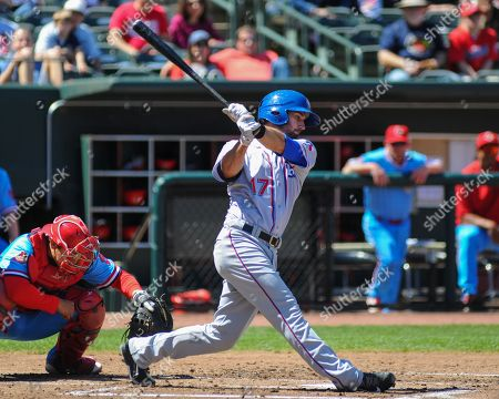 Stock Picture of , 2018; Memphis, TN, USA; Round Rock Express, Nick Noonan (17), at bat during the Pacific Coast League Triple-A baseball game at Auto Zone Park. Memphis defeated Round Rock, 6-1