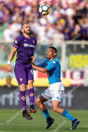 Riccardo Saponara of Fiorentina and Allan Marques Loureiro of Napoli