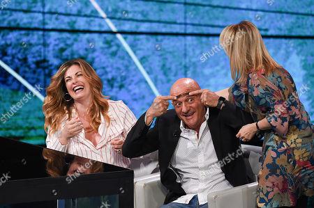 Vanessa Incontrada, Claudio Bisio and Luciana Littizzetto