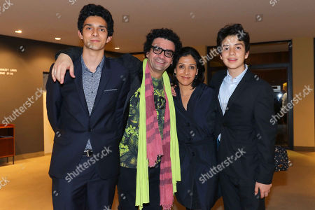 Rolando Villazon with wife Lucia and sons