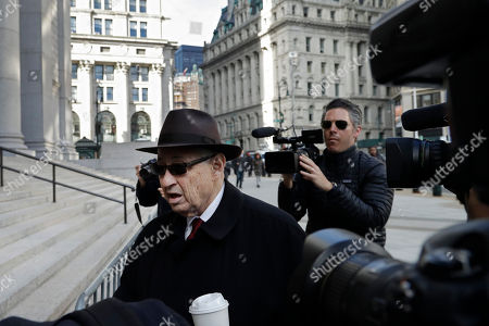 Former New York Assembly Speaker Sheldon Silver arrives at federal court, in New York. The former speaker returned to court Monday to listen as prosecutors accuse him for a second time of collecting $4 million in illegal kickbacks from a cancer researcher and real estate developers