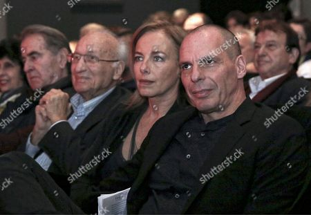 Stock Photo of Yianis Varoufakis (R) with wife Danae Stratou