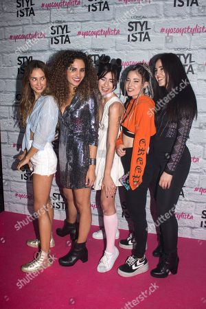 Stock Image of Patry Jordan, Ines Jimm, Isabel Sanz, Grace Villareal and Paula Baena