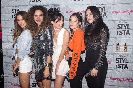 Stock Photo of Patry Jordan, Ines Jimm, Isabel Sanz, Grace Villareal and Paula Baena