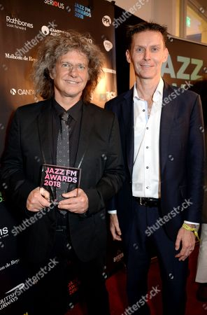 Pat Metheny (L) with guest