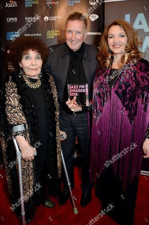 Jacqui Dankworth, Nigel Williams and Dame Cleo Laine