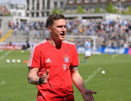 29.04.2018, Football Regionalliga Bayern 2017/2018, 36. match day, FC Bayern Muenchen Amateure - TSV 1860 Muenchen,  Co-Trainer Tobias Schweinsteiger (Bayern Muenchen)