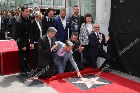 Carson Daly, Ellen DeGeneres, JC Chasez, Joey Fatone, Leron Gubler, Lance Bass and Chris Kirkpatrick