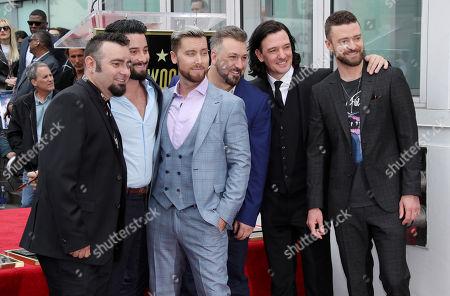 NSYNC - Chris Kirkpatrick, Joey Fatone, JC Chasez, Justin Timberlake and Lance Bass with Michael Turchin