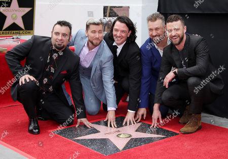 NSYNC - Chris Kirkpatrick, Joey Fatone, JC Chasez, Justin Timberlake and Lance Bass