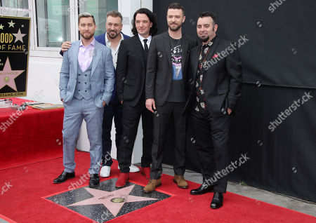 Editorial image of NSYNC honored with a star on the Hollywood Walk of Fame, Los Angeles, USA - 30 Apr 2018