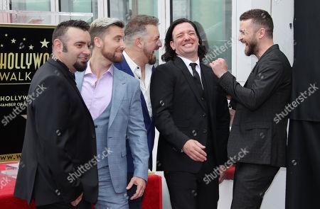 Stock Photo of NSYNC - Chris Kirkpatrick, Joey Fatone, JC Chasez, Justin Timberlake and Lance Bass