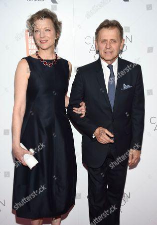 Lisa Rinehart, Mikhail Baryshnikov. Dancer/Mikhail Baryshnikov and wife Lisa Rinehart attends the Film Society of Lincoln Center's 45th Chaplin Award Gala at Alice Tully Hall, in New York