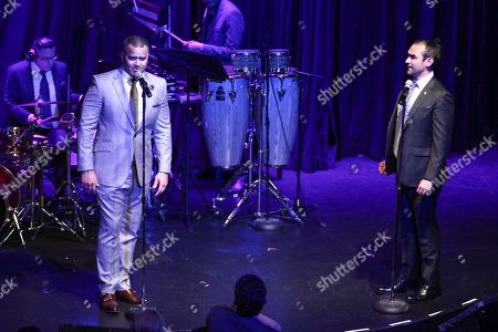 Christopher Jackson, Javier Munoz. Christopher Jackson, left, and Javier Munoz, right, attend the 18th Annual Monte Cristo Awards at the Edison Ballroom, in New York