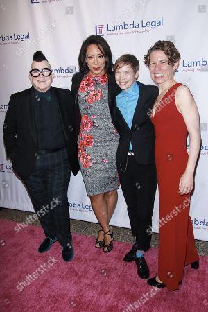Stock Picture of Lea DeLaria, Selenis Leyva, Abigail Savage and Rachel B. Tiven