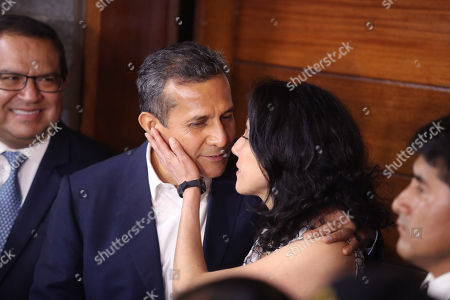 Editorial picture of Former Peruvian President Ollanta Humala and wife released, Lima, Peru - 30 Apr 2018