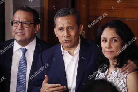 Editorial photo of Former Peruvian President Ollanta Humala and wife released, Lima, Peru - 30 Apr 2018