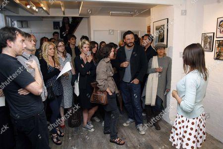Minnie Weisz at the opening of her new studio Minnie Weisz studios.