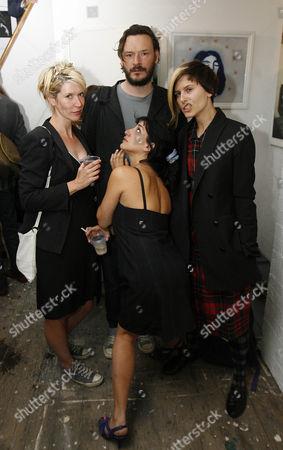 Stock Photo of Julia Davis, Julian Barratt, Sue Denim and Mercedes Grower (front)