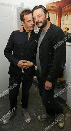 Dan Clarke with Julian Barratt