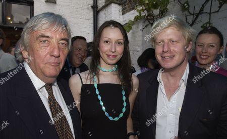 L-r Bob Marshall Andrews Katy Taylor-richards And Boris Johnson At The Spectator Magazine Party 2004