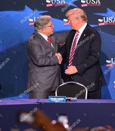 Maximo Alvarez and U.S. President Donald J. Trump