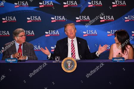 Editorial picture of Donald Trump visit to Florida, USA - 16 Apr 2018