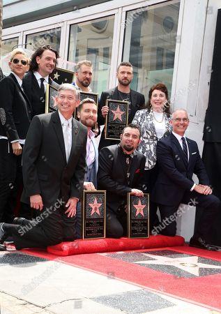 Carson Daly, Ellen DeGeneres, Lance Bass, JC Chasez, Joey Fatone, Justin Timberlake, Chris Kirkpatrick