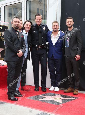 Carson Daly, Ellen DeGeneres, Lance Bass, JC Chasez, Joey Fatone, Justin Timberlake, Chris Kirkpatrick, Cory Palka,