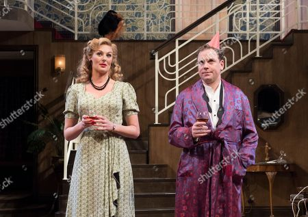 Editorial picture of 'Present Laughter' Play performed at the Festival Theatre, Chichester, UK, 25 Apr 2018