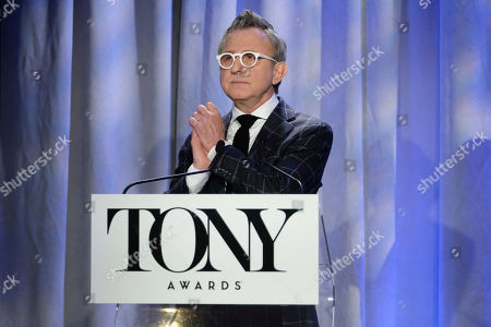 Thomas Schumacher attends the 2018 Tony Awards nominations announcement at the New York Public Library for the Performing Arts, in New York