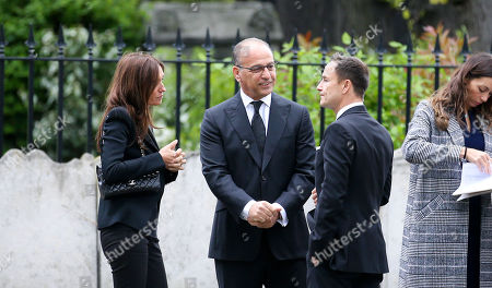 Theodoros 'Theo' Paphitis  (Dragons' Den) centre with Dennis Wise